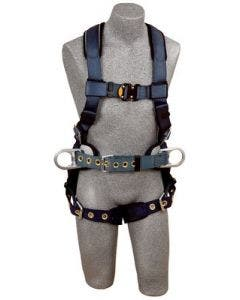 3M DBI-SALA ExoFit Construction-Style Positioning Harness With Quick Connect Chest Buckles and Tongue Leg Buckles