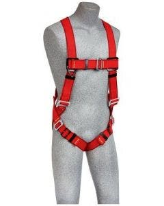 3M Protecta Pro Vest-Style Red Positioning Harness for Hot Work Use