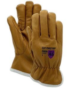 Magid CutMaster Para-Aramid Lined Leather Drivers Glove with Oil Block – Cut Level A6