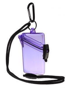Wirtz See It Safe Purple Waterproof ID Holder