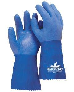 MCR 6632 Flexible Seamless Blue Triple Dipped PVC Glove