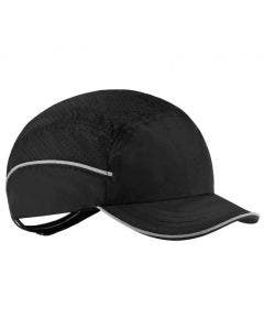Ergodyne Skullerz 8955 Lightweight Black Bump Cap Hat with Short Brim