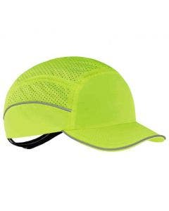 Ergodyne Skullerz 8955 Lightweight Lime Bump Cap Hat with Short Brim