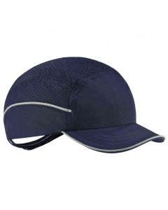 Ergodyne Skullerz 8955 Lightweight Navy Bump Cap Hat with Short Brim