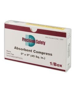 """Magid® Precision Safety® 5"""" x 9"""" Sterile Absorbent Gauze Compress"""