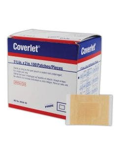 "Beiersdorf Coverlet Elastic Patch Bandages - 1 1/2"" x 2"""