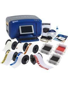 Brady BBP37 Color & Cut Sign and Label Printer w/Brady Workstation SFID Ste: SAFE