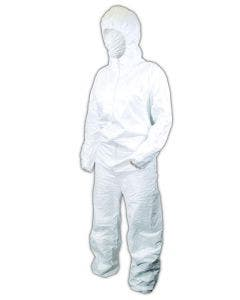 Magid CVCH112 EconoWear DuPont Tyvek Disposable Hooded Coveralls, 25/Case