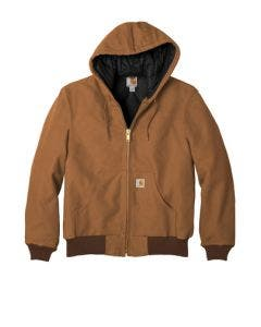 Carhartt CTSJ140 Brown Quilted Flannel-Lined Duck Active Jacket