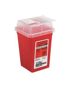 Kendall K8900SA Sharps Container - 1 quart red