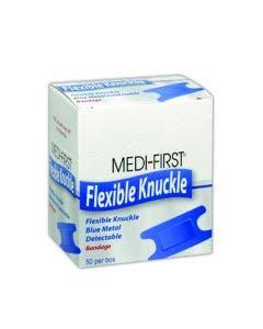 Medi-First MP65250 Blue Metal Detectable Knuckle Bandages