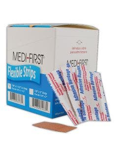 "Medi-First MP66133 Latex-Free 7/8"" x 1-1/2"" Jr. Woven Bandages"