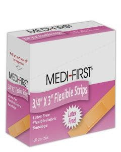 "Medique® Medi-First® ¾"" x 3"" Woven Adhesive Bandages"
