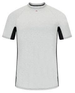 VF Imagewear MPU4SS Bulwark FR Grey Two-Tone Base Layer Short Sleeve Shirt