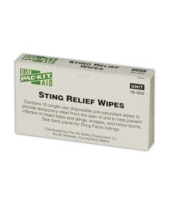 Pac-Kit® Sting Relief Wipes