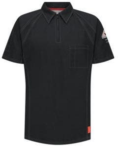 VF Imagewear QT10BK Bulwark FR iQ Series Black SS Comfort Knit Polo