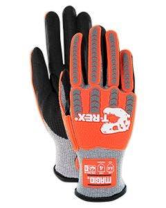 Magid T-REX TRX443 Flex Series Lean Foam Nitrile Palm Coated Low-Profile Impact Glove – Cut Level A4