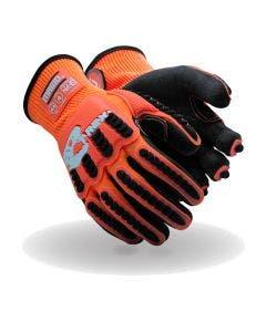 Magid T-REX Flex Series Knit Impact Glove with Crinkle Latex Palm – Cut Level A4