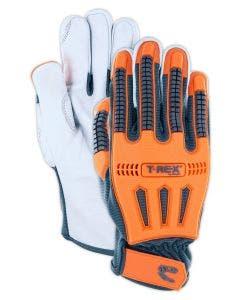 Magid T-REX Windstorm Series CoolMesh Back Goatskin Leather Palm Impact Glove – Cut Level A4