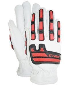 Magid T-REX Rebel Series Cow Grain DX Technology-Lined Driver Style Impact Glove – Cut Level A4