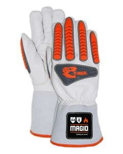 Magid T-REX Inferno Series TRX848 FR Goatskin Welder's Impact Glove – Cut Level A4