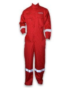 Magid CHR7 Dual-Hazard 7 oz. FR Coveralls with Knit Underarm and Back, Halliburton Logo, Short