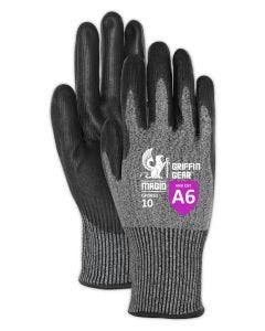 Magid Griffin Gear GPD651 Hyperon Polyurethane Palm Coated Gloves With Reinforced Thumb Crotch– Cut Level A6