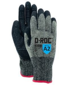 Magid D-ROC GPD249 13 Gauge Aramid NitriX Grip with Dots Palm Coated Work Glove – Cut Level A2
