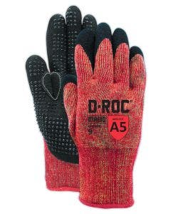 Magid D-ROC GPD549 13 Gauge Aramid NitriX Grip with Dots Palm Coated Work Glove –Cut Level A5