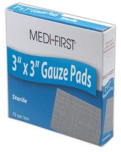 "Medique® Medi-First® 3"" x 3"" Sterile Gauze Pads"
