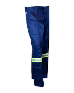 Magid N1531RFH Navy Relaxed Fit Fire Resistant Pants With Concealed Snap Closure
