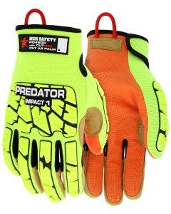 MCR Safety PD4900 Predator Hi-Visibility Cut Resistant Mechanic Work Gloves