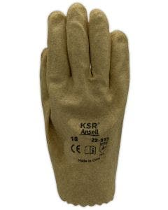 Ansell KSR 22515 Vinyl Coated Interlock Knit Lined General Use Gloves (Bifolded and Shrink-Wrapped for Vending Use)