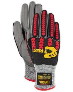 Magid T-REX TRX442 Flex Series Lean Lightweight Polyurethane Palm Coated Impact Glove - Cut Level A4