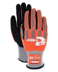 Magid T-REX TRX443 Flex Series Lean Ultra-Lightweight Foam Nitrile Palm Coated Low-Profile Impact