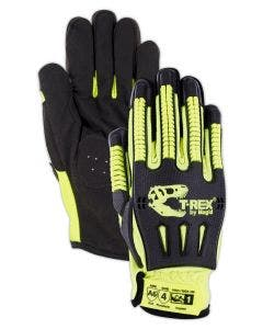Magid T-REX Windstorm Series TRX742 CoolMesh Back Syntec Palm Impact Glove – Cut Level A6