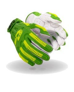Magid T-REX Windstorm Series TRX743 Hi-Viz Mesh- Goat Skin Leather Palm Impact Glove – Cut Level A6