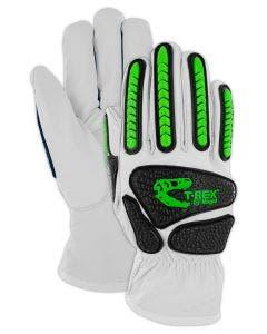 Magid T-REX Rebel Series TRX814 Goatskin Para-Aramid Lined Driver Impact Glove – Cut Level A6