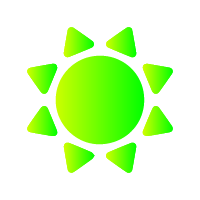 Icon of the sun indicating working in direct sunlight