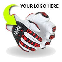 Photo of custom branded glove