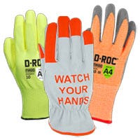 Photo of hi-visibility colored gloves