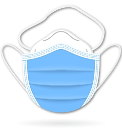 icon showing an N95 mask with a medical mask over top.